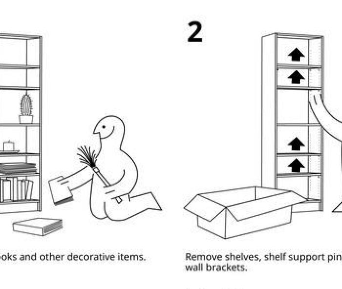 Ikea, istruzioni di smontaggio